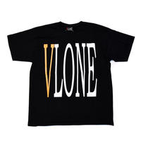 VLONE  LOGO TEE / BLACK_YELLOW