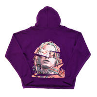"""PULL OVER HOODIE """"GUCCI GANG"""" / PURPLE"""