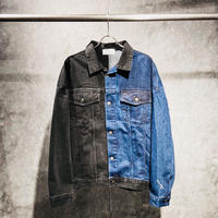 HALF × DENIM JACKET / BLACK × BLUE