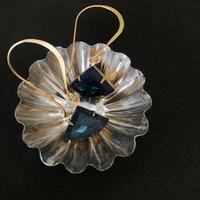 czech vintage  glass pierce  (fan)