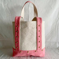 canvas tote bag medium (pink)