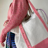 canvas 2way tote bag  (pink)