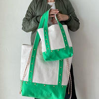 canvas 2way tote bag  (green)