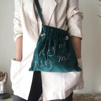 """hug me"" shoulder bag  (dark green)"