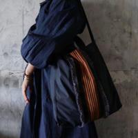 french ribbon 2way tote bag (navy)