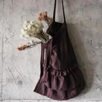 gauze frill bag (plum)