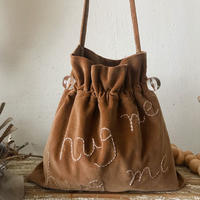 """hug me"" shoulder bag (camel)"