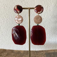 talian beads earrings (bordeaux)