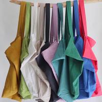 cotton linen bag (charcoal gray)