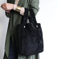 damask tote bag (black)