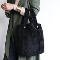 damask tote bag (black)