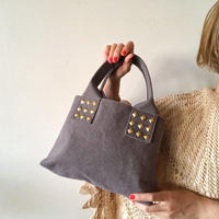 canvas tote  bag mini (gray)