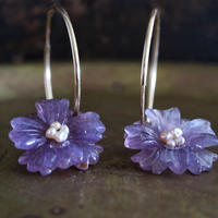 amethyst flower pierce