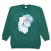 hotel breakfast sweat shirt (green)