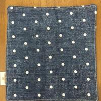 デニム風 ドット mini handkerchief