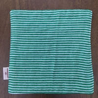 green ボーダー mini handkerchief