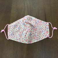 フラワー柄 pink kids mask