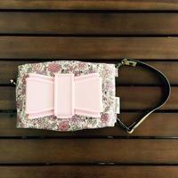 リボンbitatto pink fiower ウエットシートポーチ