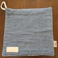 デニム風 ボーダー handkerchief  (薄い)