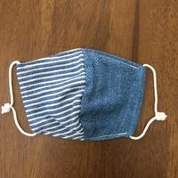 デニム風 ボーダー blue baby mask