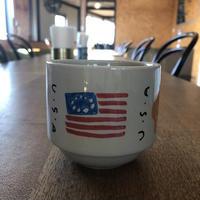手描きのマグカップ/ HI USA