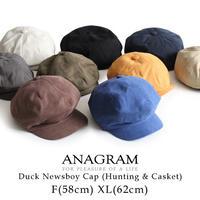 ANAGRAM アナグラム 2way ダックキャスケット ハンチング ニュースキャップ 大きいサイズ 帽子 XLサイズあり AGM1820
