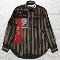Newアナーキーシャツ メンズL  ディープブルー001