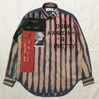 Newアナーキーシャツ メンズL  ブルー079