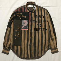 Newアナーキーシャツ メンズM  ダークブラウン074