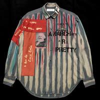 Newアナーキーシャツ メンズM  ブルーグレー038
