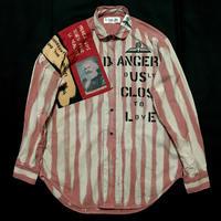 Newアナーキーシャツ メンズL  ピンク系
