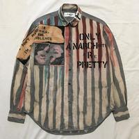Newアナーキーシャツ メンズM  ライトグレー068