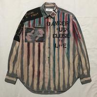 Newアナーキーシャツ メンズL  ライトグレー062