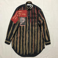 Newアナーキーシャツワンピース ディープブルー018