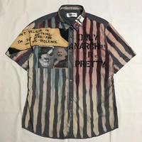半袖アナーキーシャツ メンズL  ブルーグレー088