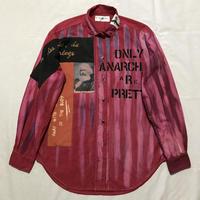 Newアナーキーシャツ メンズL  レッドDipDye042