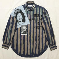 Newアナーキーシャツ メンズL  GSTQブルー047