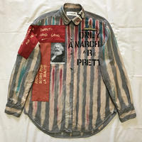 Newアナーキーシャツ メンズL  ライトグレー039