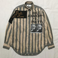 Newアナーキーシャツ メンズL  ライトグレー076
