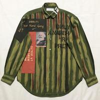 Newアナーキーシャツ メンズL  オリーブグリーン050