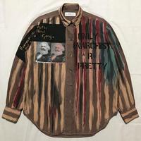 Newアナーキーシャツ メンズL  レッドブラウン054