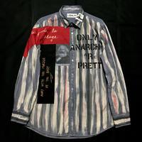 アナーキーシャツ メンズL  ブルーグレイ