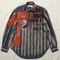 Newアナーキーシャツ メンズM  ブルー037