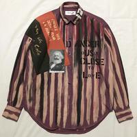 Newアナーキーシャツ メンズM  パープル056