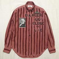 Newアナーキーシャツ メンズM  ピンク058