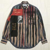 Newアナーキーシャツ メンズL  ブルー057