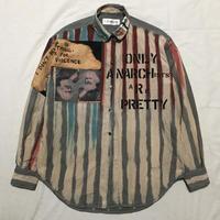 Newアナーキーシャツ メンズL  ライトグレー073