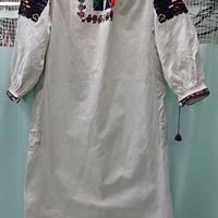 オールド ウクライナ刺繍 コットンワンピース ロングシャツ ルーマニア