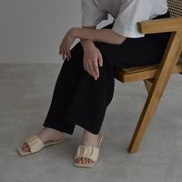 shoes-a02004 Square Flat Sandals
