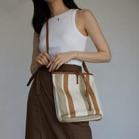 bag-a02003  Canvas Stripe Totebag